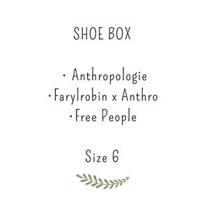 Show box, Free People & Anthropologie